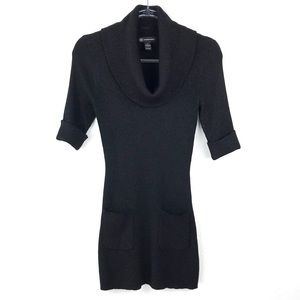INC International Concepts Black Sweater Dress